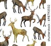 watercolor seamless pattern... | Shutterstock . vector #698793532
