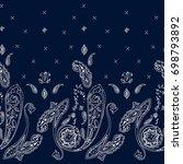 ornamental seamless paisley... | Shutterstock . vector #698793892