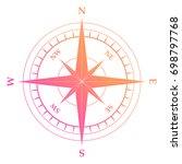 isolated vector gradient pink... | Shutterstock .eps vector #698797768
