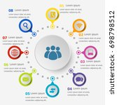 infographic template with... | Shutterstock .eps vector #698798512