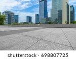 empty brick floor with... | Shutterstock . vector #698807725