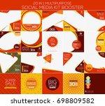 multipurpose social media kit... | Shutterstock .eps vector #698809582
