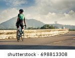 road bike cyclist man cycling....   Shutterstock . vector #698813308