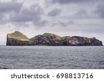 ellidaey an island with small...   Shutterstock . vector #698813716