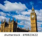 houses of parliament aka... | Shutterstock . vector #698823622