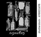 cosmetics for the body  face.... | Shutterstock .eps vector #698831698
