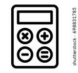 calculator vector icon | Shutterstock .eps vector #698831785