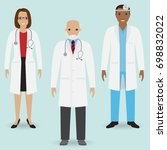 hospital staff concept. group... | Shutterstock . vector #698832022