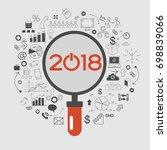 2018 text design on creative...   Shutterstock .eps vector #698839066