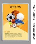 sport equipment poster design ... | Shutterstock .eps vector #698843752