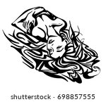 vector graphic with beautiful... | Shutterstock .eps vector #698857555
