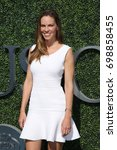 Small photo of NEW YORK - SEPTEMBER 11, 2016: American actor and producer Hilary Swank at the red carpet before US Open 2016 men's final match at USTA Billie Jean King National Tennis Center in New York