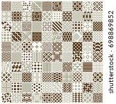 graphic vintage textures... | Shutterstock . vector #698869852