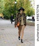 fashion photo  street style... | Shutterstock . vector #698870746