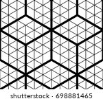contrast black and white... | Shutterstock . vector #698881465