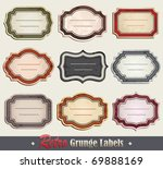 retro grunge labels | Shutterstock .eps vector #69888169