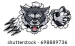a wolf angry animal sports... | Shutterstock .eps vector #698889736
