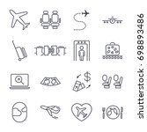 airport icon set  airport... | Shutterstock .eps vector #698893486