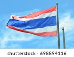 flag of thailand with vivid... | Shutterstock . vector #698894116