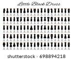 fashion little black dresses.... | Shutterstock . vector #698894218
