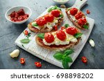 Tomato Ricotta Bruschetta With...