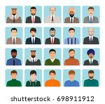 avatars characters set of... | Shutterstock . vector #698911912