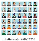 avatars characters set of...   Shutterstock . vector #698911918