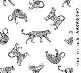 seamless pattern of sketch... | Shutterstock .eps vector #698930062
