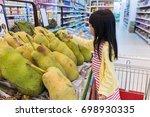 asian little chinese girl... | Shutterstock . vector #698930335