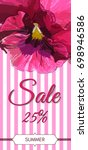sale card.colorful pansy... | Shutterstock .eps vector #698946586
