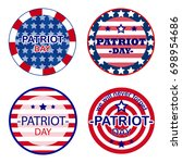 patriot day sticker. patriot... | Shutterstock .eps vector #698954686