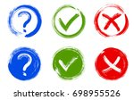 question mark  symbolic x and... | Shutterstock .eps vector #698955526