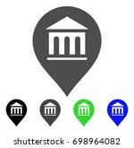museum marker flat vector... | Shutterstock .eps vector #698964082