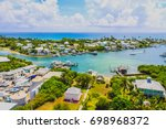 view of hope town harbour from... | Shutterstock . vector #698968372