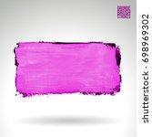 purple brush stroke and texture.... | Shutterstock .eps vector #698969302