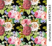 colorful pattern with... | Shutterstock . vector #698972665