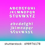 glitched font  vector typeface...   Shutterstock .eps vector #698976178