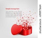 vector background with open... | Shutterstock .eps vector #69897664