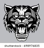 wild cat head   design for logo ... | Shutterstock .eps vector #698976835
