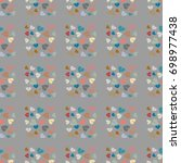 new color seamless pattern with ... | Shutterstock .eps vector #698977438