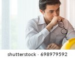male business people are... | Shutterstock . vector #698979592