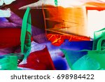 painted abstract background | Shutterstock . vector #698984422