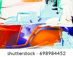 painted abstract background | Shutterstock . vector #698984452