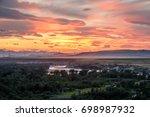 Sunset Light Above Oldman River ...