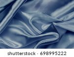 blue luxury satin fabric... | Shutterstock . vector #698995222