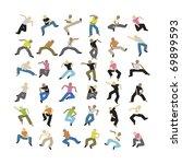a set of some dancing vector... | Shutterstock .eps vector #69899593