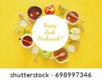 rosh hashanah  jewish new year... | Shutterstock . vector #698997346