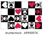 emo texture  vector    Shutterstock .eps vector #69900076