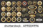 luxury gold and silver design... | Shutterstock .eps vector #699004996