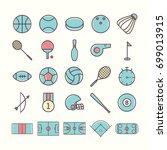 sport icon set | Shutterstock .eps vector #699013915